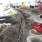 Leitungsverlegearbeiten für Skiweltcup Zürs