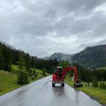 Baggerarbeiten Zuger Straße, Tagweiser