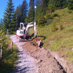 Beleuchtung Burgwaldweg - neues Kabel verlegen
