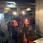 Montage Seilwinde in der Garage, Steyr 6190 CVT...