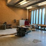 Holz zurechtschneiden in der Tischlerei