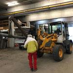 Rohrtransport für Wegesanierung Lech-Zürs