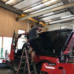 Adaptierungsarbeiten Holder Kehrmaschinenaufbau