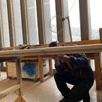 Renovierte Türe für Wohnung Haus Stubenbach fertigstellen