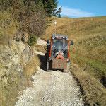 Umtrassierung und Retourbau Wanderweg Goldener Berg - Gipsbach