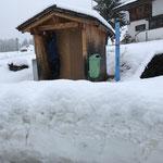 Kassaautomatenhütte Zug winterfest abdecken