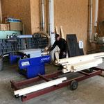 Neue Holzböcke fertigen in der Tischlerei