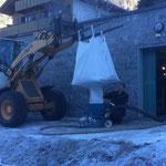 Filtersand Wasserwerk Zug austauschen