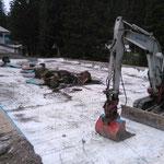 Waldbad Lech, Abrissarbeiten