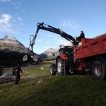 Steine ausrechen und fassen nach Renaturierung aufgrund Holzschlägerungsarbeiten im Älpele