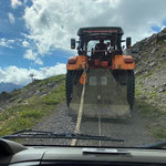 Steiger-Transport zur Steinmähder-Bergstation für Filmarbeiten