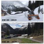 Schnee von gestern: Auffräsen in Oberlech mit Lader 509