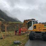 Betonierarbeiten beim neuen Jugendplatz, mit Schneider Erdbau