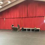 Aufbau Bühne