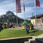 Rasenpflege beim sport.park.lech