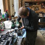 Bremssattelreparatur Unimog 1600 in der Werkstatt