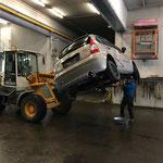 Übungsauto für FF Lech-Probe vorbereiten und transportieren