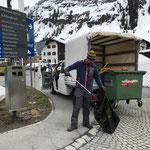 Mülldienst im Zentrum