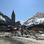 Baugrube freimachen Gemeindezentrum, mit Rolba 1500