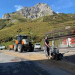 Mithilfe für Skiweltcup Flexenrennen: Betonschneidearbeiten...
