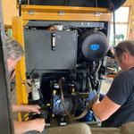 Hydraulikpumpe einbauen nach Reparatur, Fräsmotor Lader 509