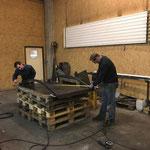Radübergänge-Produktion in der Schlosserei
