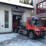 Klärschlammtransport mit U530, ARA Lech - Fa. Häusle, Lustenau