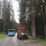 Waldbad Lech Parkplätze Löcher flicken
