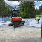 Baufortschritt Plattenverlegearbeiten