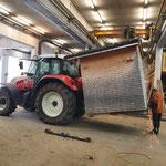 Hüttenaufnahme-Gabel fertig konstruieren an Steyr 6190 CVT...