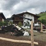 Spielplatz sport.park: Humusierungsarbeiten