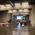 Bauhofgarage aufräumen und waschen