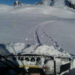 Wegepräparierung mit Paana, Gaisbühel