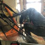 Kamin abnehmen für Reparatur Rolba 1500