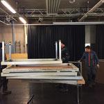 Bühnenbau für Musikschule in der Postgarage