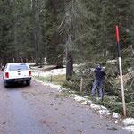 Straße Engerle Wald aufräumen nach nächtlichem Föhnsturm