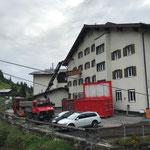 Ausräumarbeiten Postamtsgebäude, mit Transporte Elsensohn