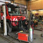 Anpassungsarbeiten Bohrhammerkonsole für U530