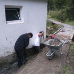 Waldbad Lech - Abrissarbeiten