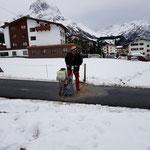 Asphaltschneidearbeiten für Rückbau Umfahrungsstraße Anger