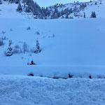 Winterwanderwegpflege Zürs - Lech, mit Skidoo