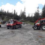 Materialfahrten für Füllarbeiten Waldbad Lech