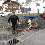 Wassernetzarbeiten am Anger für Gemeindezentrum
