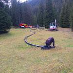 Neubau vordere Butzenbrücke: Kabel ausrollen
