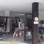 Rondell, neue Türen und Fenster einbauen