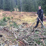 Forstarbeiten Johannatal, aufräumen