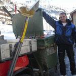 """Unser """"kleiner Prinz"""" Franz - der momentan wichtigste Mann im Dorfzentrum von Lech! Hauptverantwortlich für das gepflegte Ortsbild."""