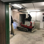 Schremmarbeiten Liftschacht Feuerwehrhaus