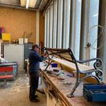 Sitzbänke neu beplanken in der Tischlerei