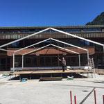 Abbau Bühne  und Zelt Schulplatz